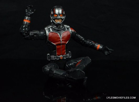 Ant-Man Marvel Legends figure review - sitting down