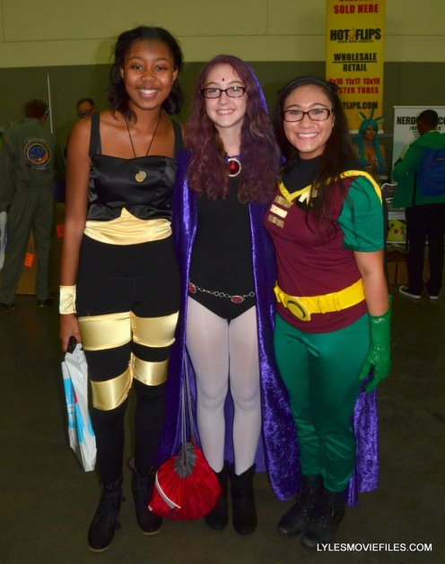 Baltimore Comic Con 2015 cosplay - Bumblebee, Raven and Robin