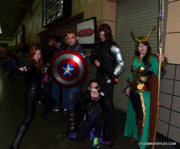 Baltimore Comic Con 2015 cosplay -Captain America, Winter Soldier, Black Widow, Nick Fury and Loki