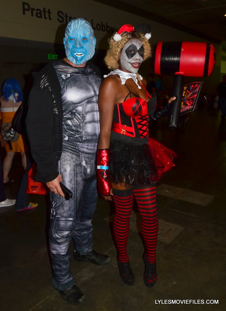 Baltimore Comic Con 2015 cosplay -Electro and Harley Quinn