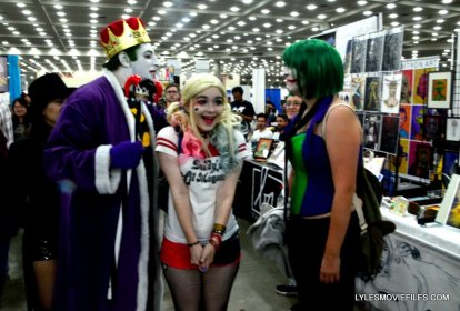 Baltimore Comic Con 2015 cosplay -Emperor Joker, Harley and Joker