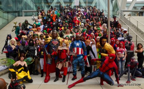 Baltimore Comic Con 2015 cosplay -main shot of cosplayers on steps