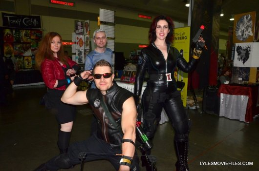 Baltimore Comic Con 2015 cosplay -Scarlet Witch, Quicksilver, Hawkeye and Black Widow