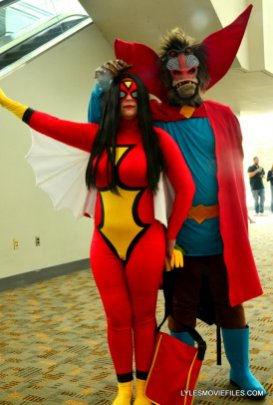 Baltimore Comic Con 2015 cosplay - Spider-Woman and Mandril 2