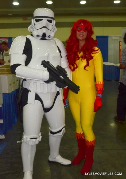 Baltimore Comic Con 2015 cosplay - Stormtrooper and Firestar