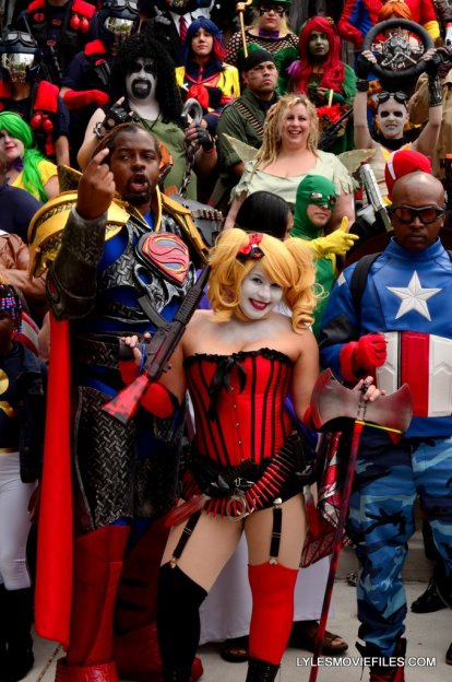 Baltimore Comic Con 2015 cosplay -Superman, Harley Quinn and Captain America