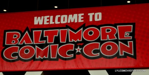 Baltimore Comic Con 2015 cosplay - Welcome sign