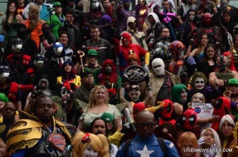 Baltimore Comic Con 2015 - wide cosplay on steps