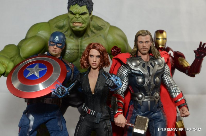 Hot Toys Avengers Age of Ultron Black Widow - with Captain America, Thor, Hulk and Iron Man