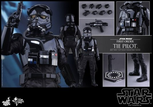 Hot Toys Star Wars Force Awakens Tie Pilot -collage