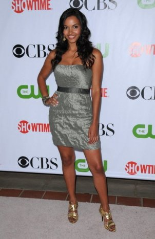 Jessica Lucas -grey dress