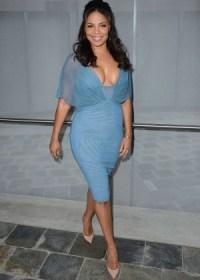 Sanaa Lathan -blue dress