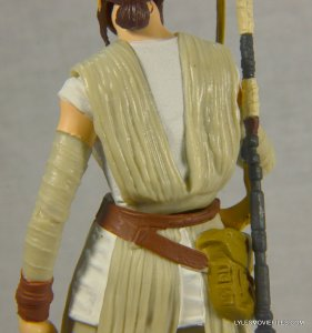 Star Wars Black Series Force Awakens Rey and BB-8 -back detail