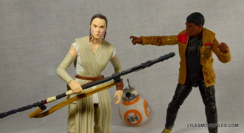 Star Wars Black Series Force Awakens Rey and BB-8 -running with Finn