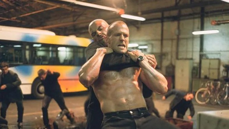The Transporter - Jason Statham oil fighting