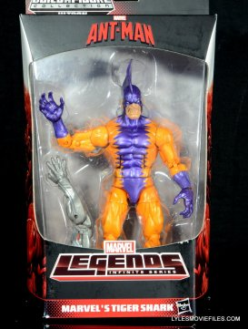 Tiger Shark Marvel Legends figure review - front package
