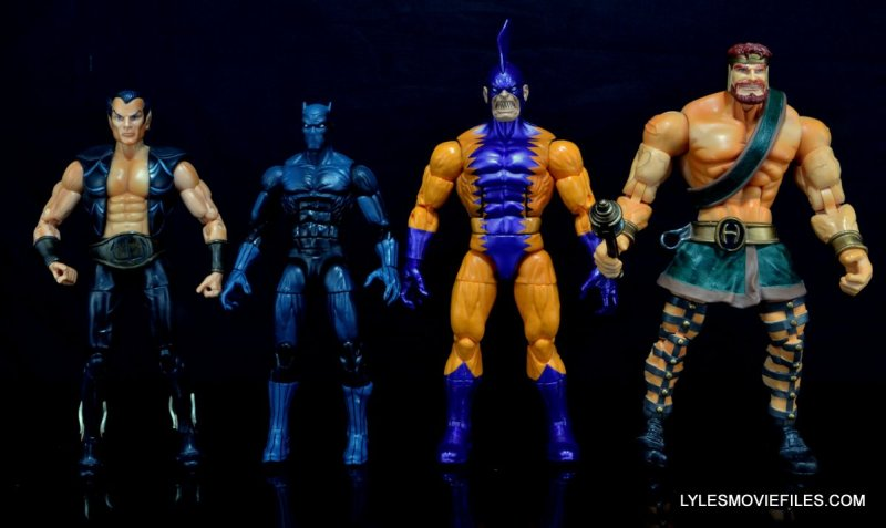 Tiger Shark Marvel Legends - scale shot with Namor, Black Panther and Hercules