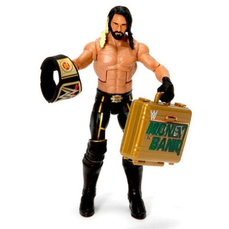 TRU Seth Rollins exclusive -Seth with title and Money in the Bank