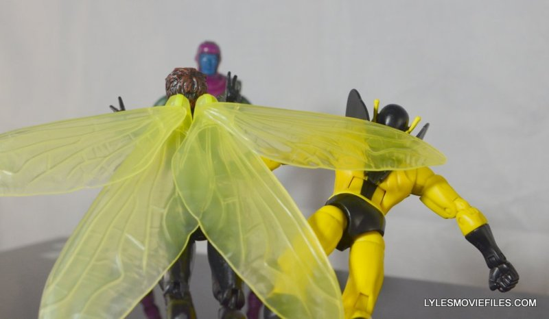 Wasp Marvel Legends figure review -flying with Yellowjacket to fight Kang