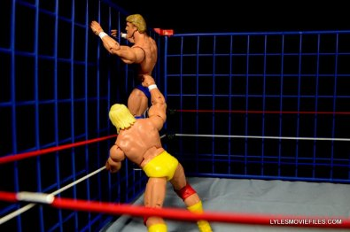 Wicked Cool Toys authentic classic cage -Hulk Hogan pulls Mr Wonderful down