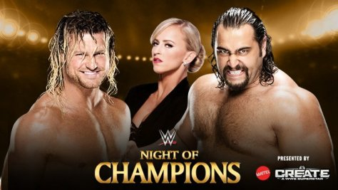 WWE Night of Champions - Dolph Ziggler vs Rusev