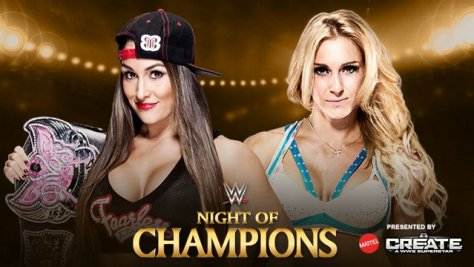 WWE Night of Champions - Nikki Bella vs Charlotte