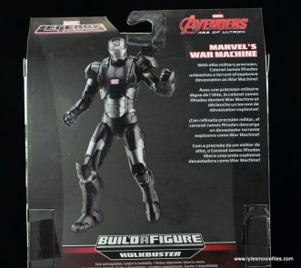 Marvel Legends Age of Ultron War Machine figure review - bio