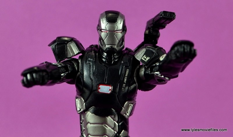 Marvel Legends Age of Ultron War Machine figure review - taking aim