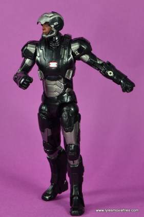 Marvel Legends Age of Ultron War Machine figure review - walking with mask up