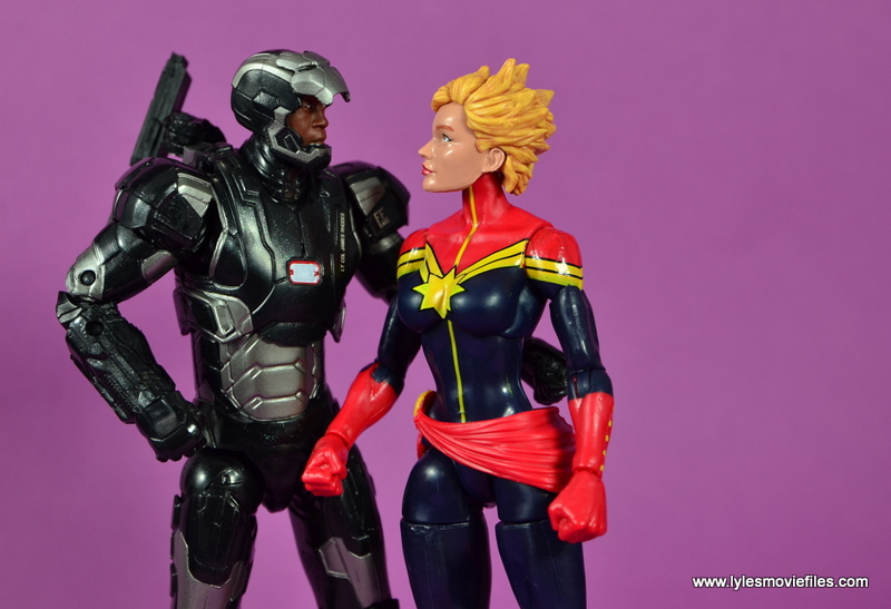Marvel Legends Age of Ultron War Machine figure review - with Captain Marvel