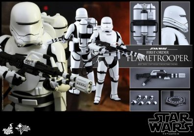 Hot Toys Star Wars Force Awakens First Order Flametrooper -collage