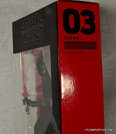 Kylo Ren Force Awakens Star Wars Black Series -side package