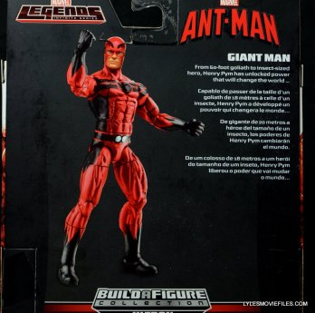 Marvel Legends Giant Man figure review -rear package