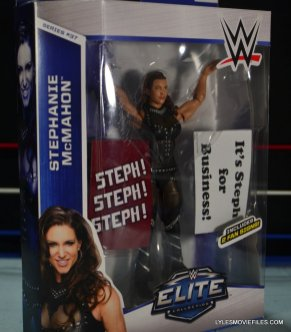 Mattel WWE Elite 37 Stephanie McMahon -front package side