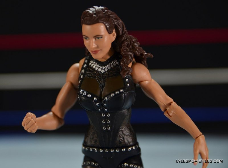 Mattel WWE Elite 37 Stephanie McMahon -outfit close up