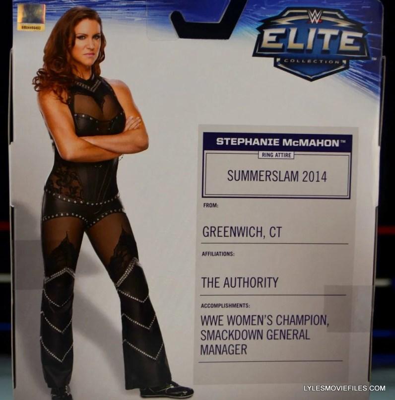 Mattel WWE Elite 37 Stephanie McMahon - rear package