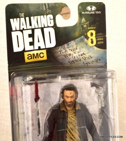 McFarlane Toys Walking Dead Rick Grimes Series 8 - front package closeup