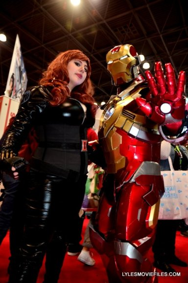 New York Comic Con 2015 cosplay - Black Widow and Iron Man