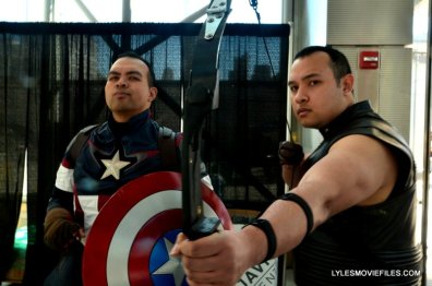 New York Comic Con 2015 cosplay - Captain America and Hawkeye