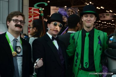 New York Comic Con 2015 cosplay - Commissioner Gordon, Penguin and Riddler
