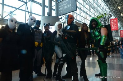 New York Comic Con 2015 cosplay - Court of Owls, Batman, Catwoman, Rose, Deathstroke, Black Canary and Arrow