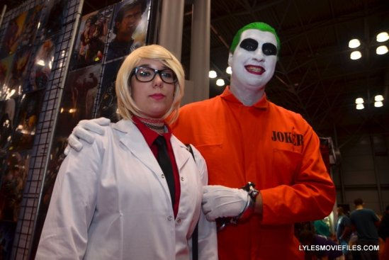 New York Comic Con 2015 cosplay -Harleen Quinzel and prisoner Joker
