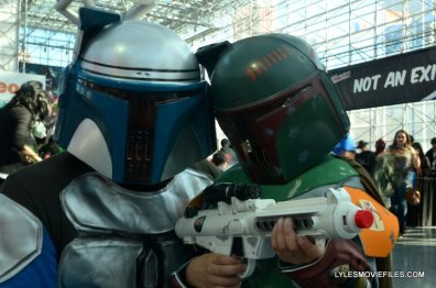 New York Comic Con 2015 cosplay -Jango Fett and Boba Fett