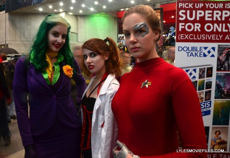 New York Comic Con 2015 cosplay -Joker, Dr. Quinzel and Seven of of Nines