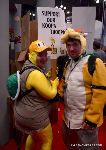New York Comic Con 2015 cosplay - Koopa Trooper and Bowser