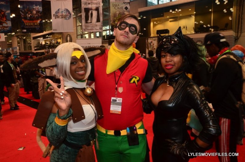 New York Comic Con 2015 cosplay - Lady Aisha, Robin and Catwoman
