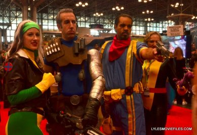 New York Comic Con 2015 cosplay - Rogue, Cable, Bishop and Kitty Pryde