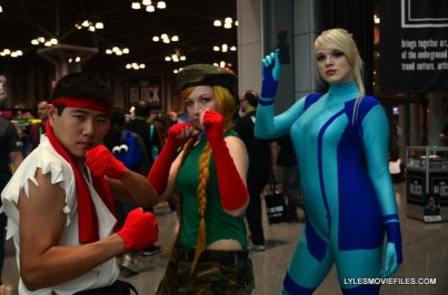 New York Comic Con 2015 cosplay - Ryu, Cammy and Samus
