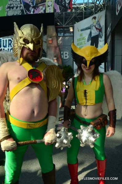 New York Comic Con cosplay - Hawkman and Hawkwoman