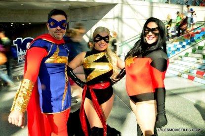 New York Comic Con cosplay - Ms Marvel trio